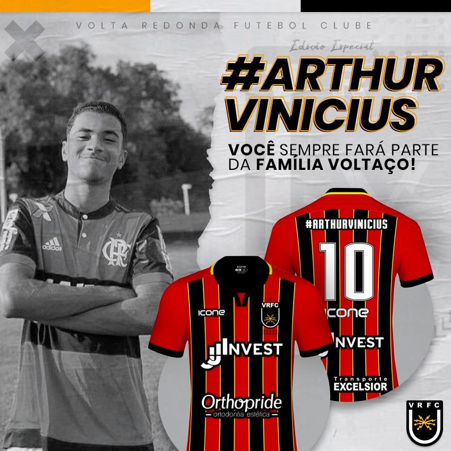 Voltaço usará camisa em homenagem a Arthur Vinícius na Taça Rio