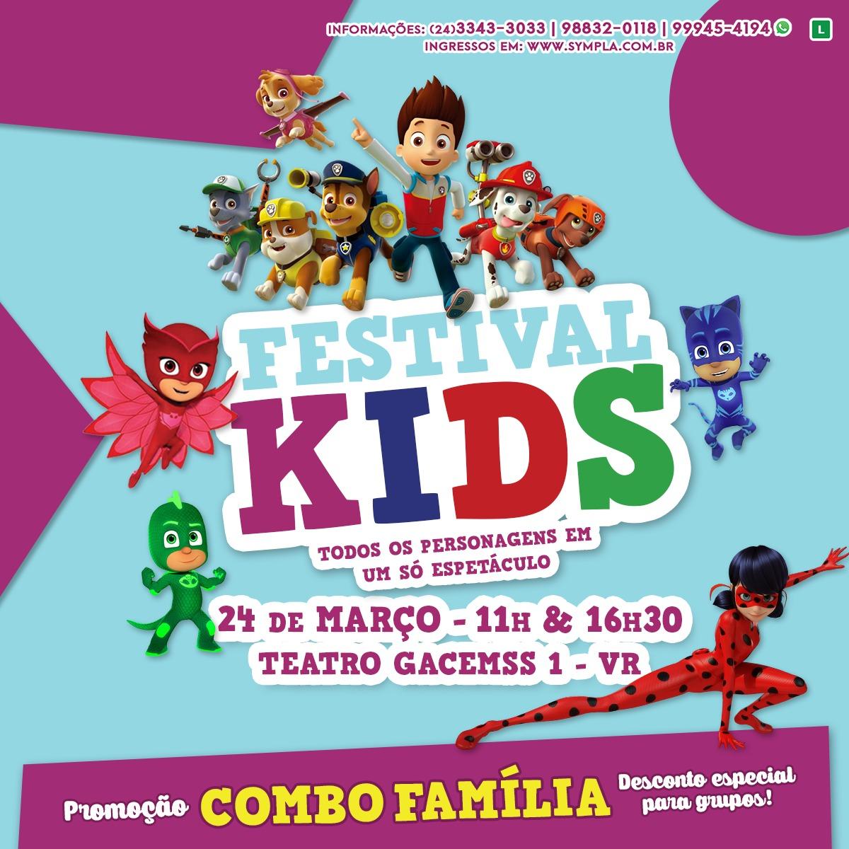 """""""Festival Kids"""" vai alegrar a criançada neste domingo em V. Redonda"""
