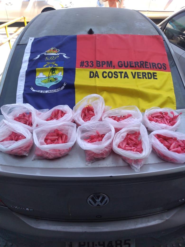Homem é preso com 500 pinos de cocaína em Angra dos Reis