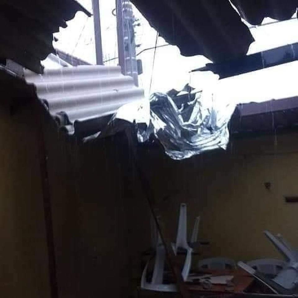 Chuva causa estragos neste domingo em Resende