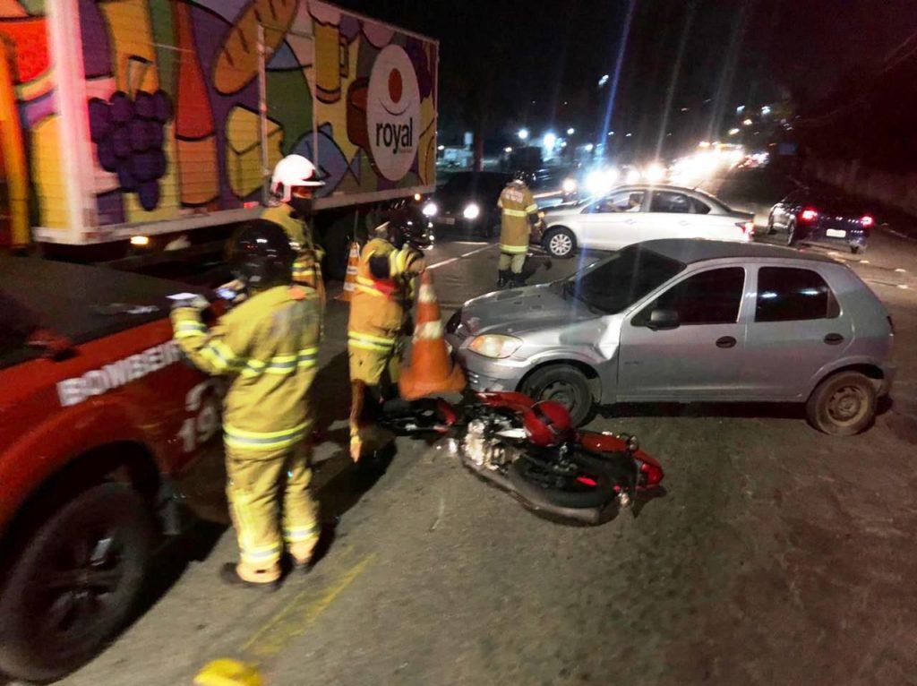 Motociclista fica ferido em acidente em Barra Mansa